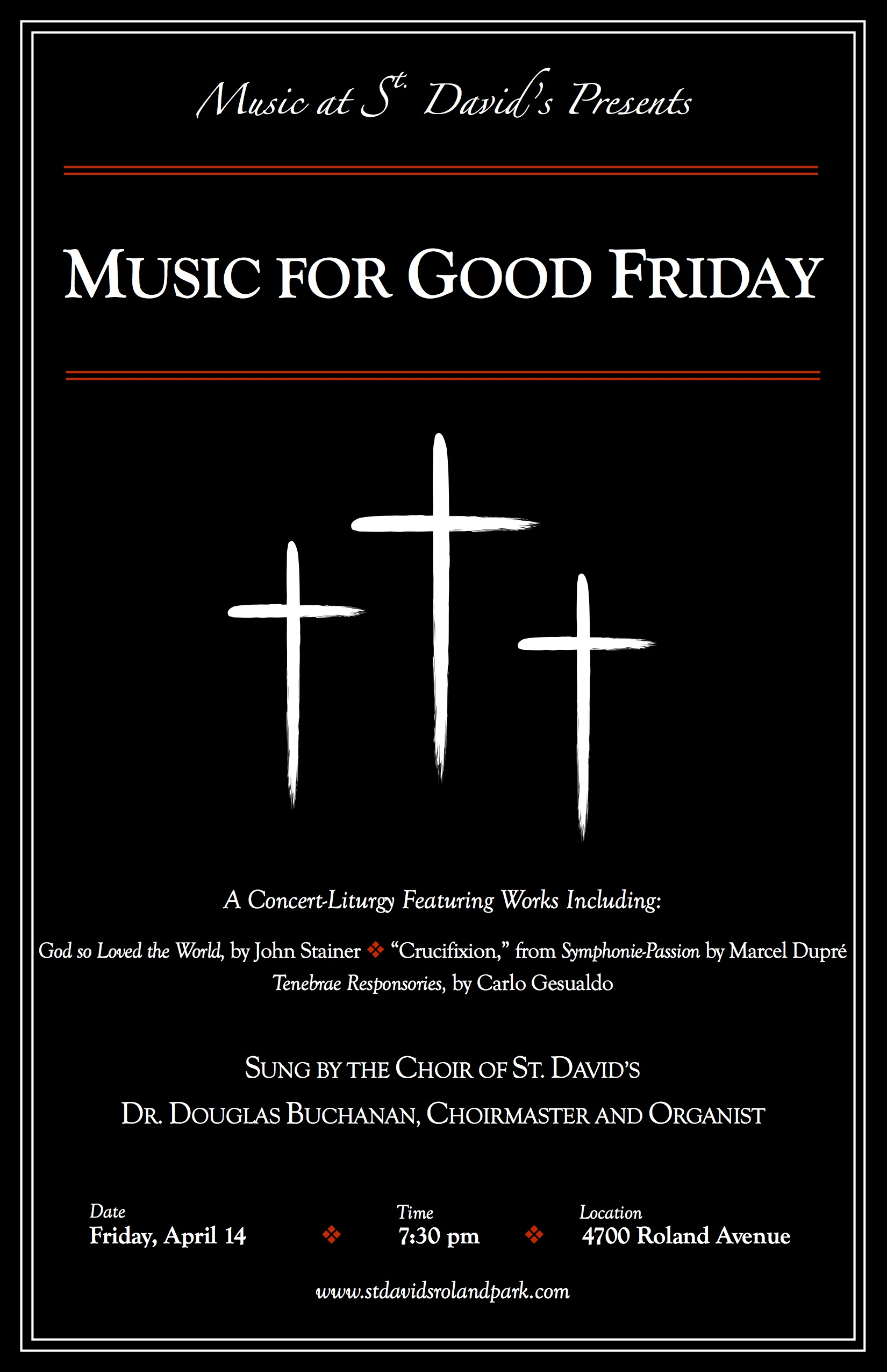 13 - Music for Good Friday Poster 2017